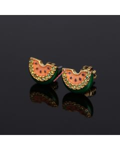 Juicy Couture Gold-Tone Diamond Watermelon Earrings