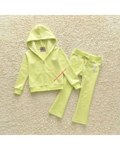 Juicy Couture JC Mirror Cameo Tracksuit 2pcs Baby Suits Yellow