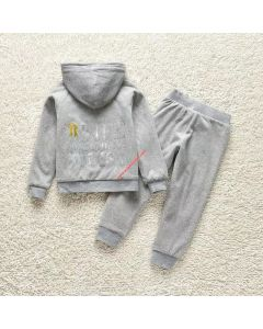 Juicy Couture Life Is Better In Juicy Tracksuit 2pcs Baby Suits Grey