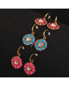 Juicy Couture Fluorescent Flowers Earrings