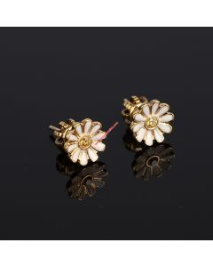 Juicy Couture Gold-Tone Diamond Daisy Earrings