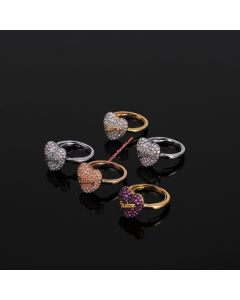 Juicy Couture Pave Heart Ring