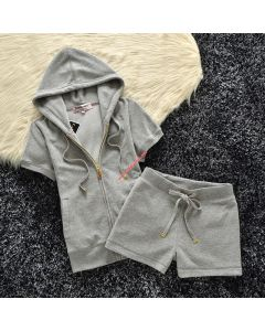 Juicy Couture Original Velour Tracksuit 607 2pcs Women Suits Grey