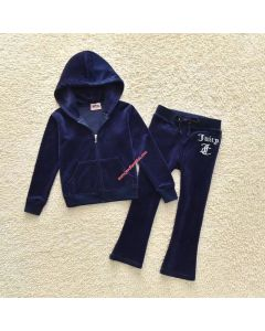 Juicy Couture JC Mirror Cameo Tracksuit 2pcs Baby Suits Navy Blue