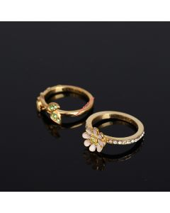 Juicy Couture Gold-Tone Diamond Two-piece Rings