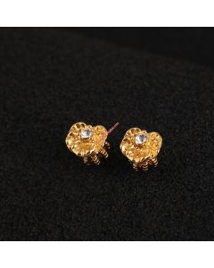 Juicy Couture Gold-Tone Diamond Snow Lotus Earrings